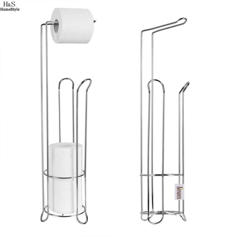 Stainless Steel Toilet Paper Roll Stand Holder Bathroom Storage Rack Tissue Organizer Toilet Accessories #202