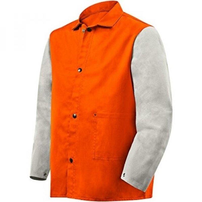 Buy Steiner 1240-L 30-Inch Jacket, Weldlite Plus Orange Flame Retardant Cotton, Gray Cowhide Sleeves, Malaysia