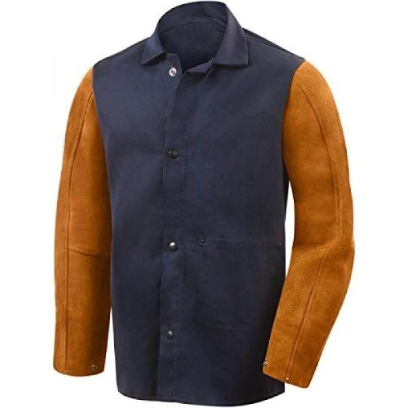 Buy Steiner 1260-S 30-Inch Jacket, Weldlite Plus Navy Cotton, Rust Cowhide Sleeves, Malaysia