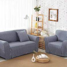 Striped Svetanya 100% Knitted Cotton Sofa Cover Slipcovers All Inclusive  Slip Resistant Couch