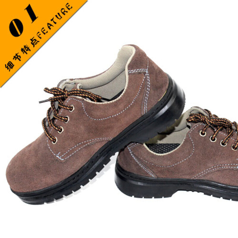 Buy summer leather suede steel toe safety shoes anti-smashing safety shoes slip protective shoes wholesale Malaysia