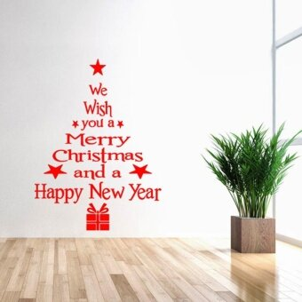 "Sunshop Hot Sale Removable "" Merry Christmas "" Tree Shape Wall Window Sticker Home Party Decoration"