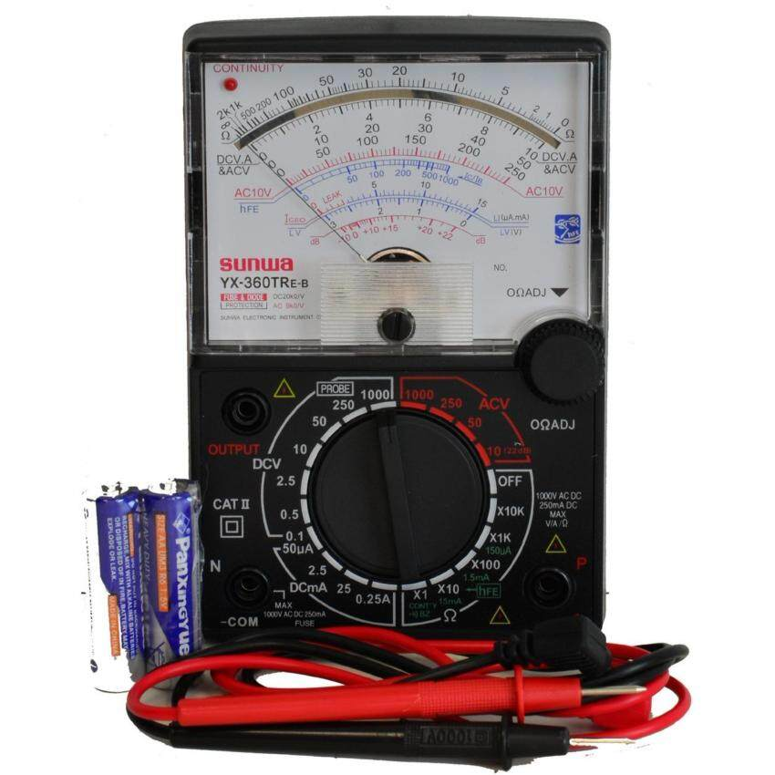 Sunwa Analog Multimeter Multi Meter Tester With Buzzer & LED Continuity Check (XY360TREB) - intl