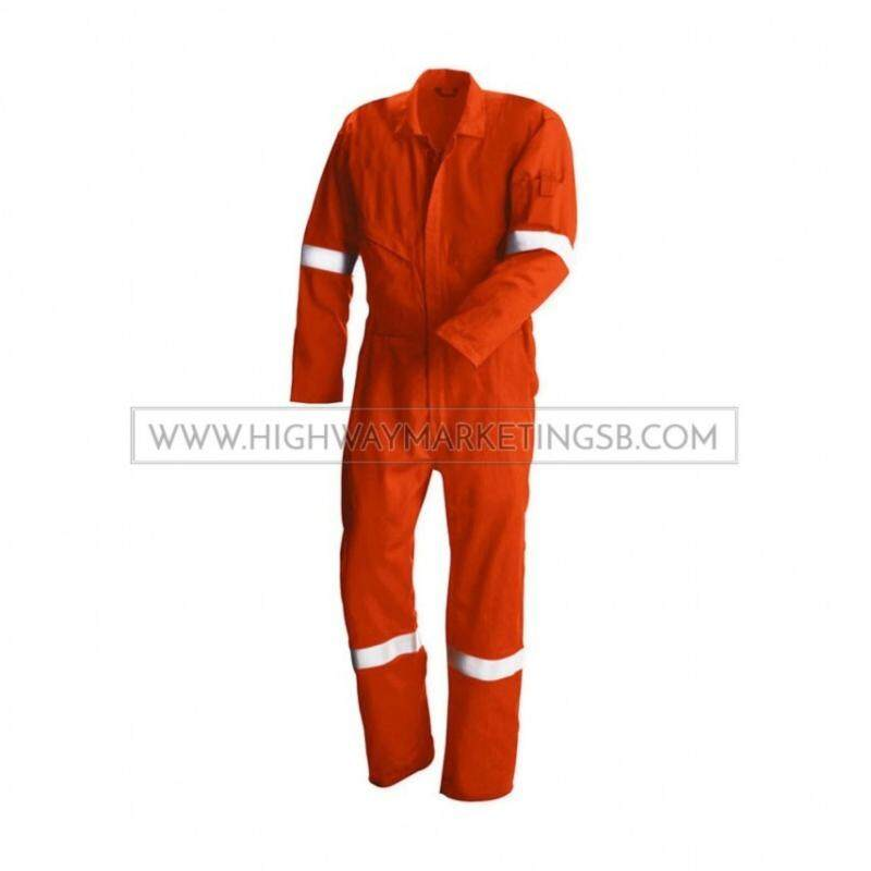 Supersonic Safety Reflective Coverall Orange Size M