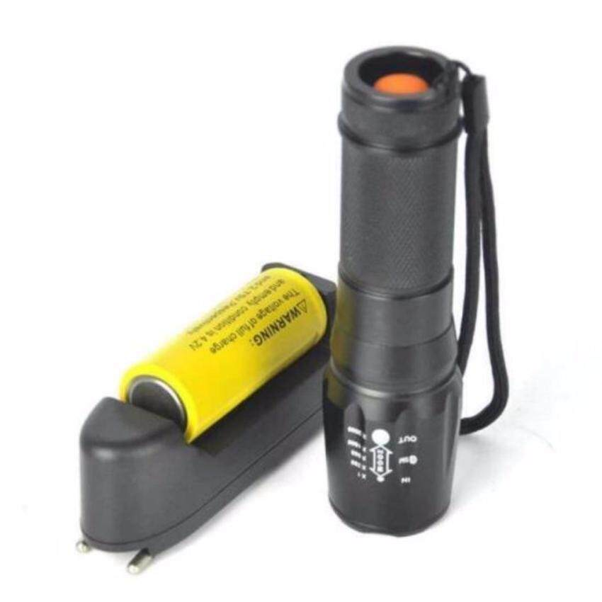 Tactical 5000LM XM-L T6 LED X800 Zoomable Flashlight Torch Light Lamp+26650+Charger - 4