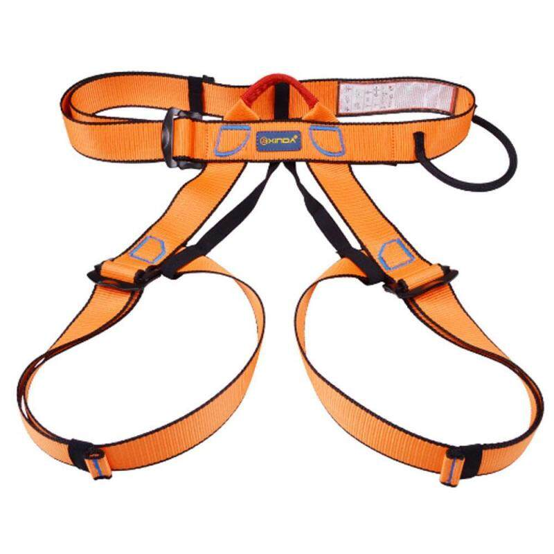 Buy Teekeer Half Body Climbing Harness, Adjustable Safety Gear Equipment For Mountaineering/ Fire Rescue/ Higher Level Caving/ Rock Climbing/ Rappelling (Orange) Malaysia