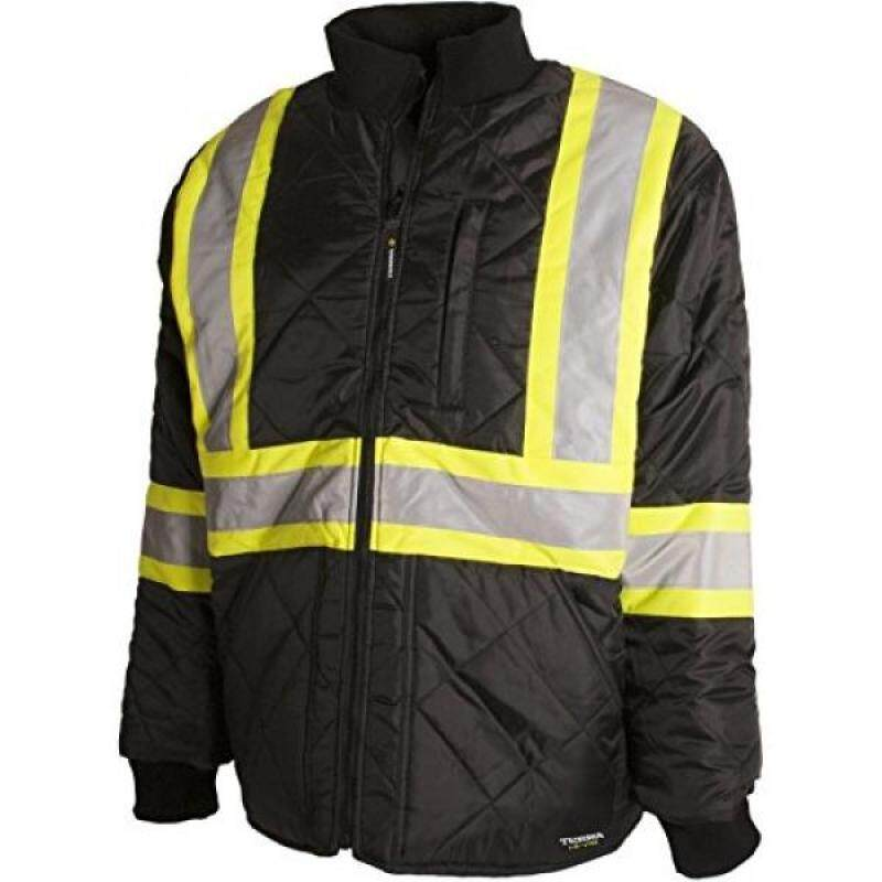 Buy Terra 116505BKM High-Visibility Quilted And Lined Reflective Safety Freezer Jacket, Black, Malaysia