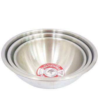 Thailand Zebra Brand | Stainless Steel Super Heavy Cookingware Mixing Bowl (21cm) 1pc