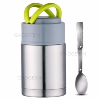 Thermal Cooker Pot 800ml With Steam Release Thermos Vacuum Steel Hot Food Jar (Silver)