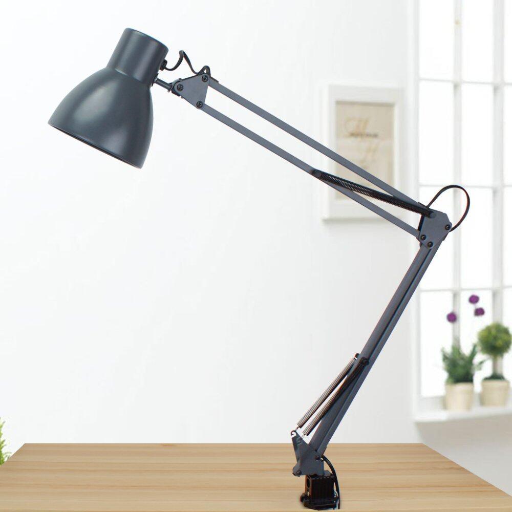 tojane swing arm lamp white clip lamp long arm lamp metal lamp lazada malaysia