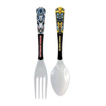 Transformers The Last Knight Fork & Spoon Set - White Colour