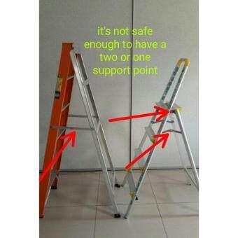 TRENY Wide Tread Aluminum 3 Step Ladder-632 - 4