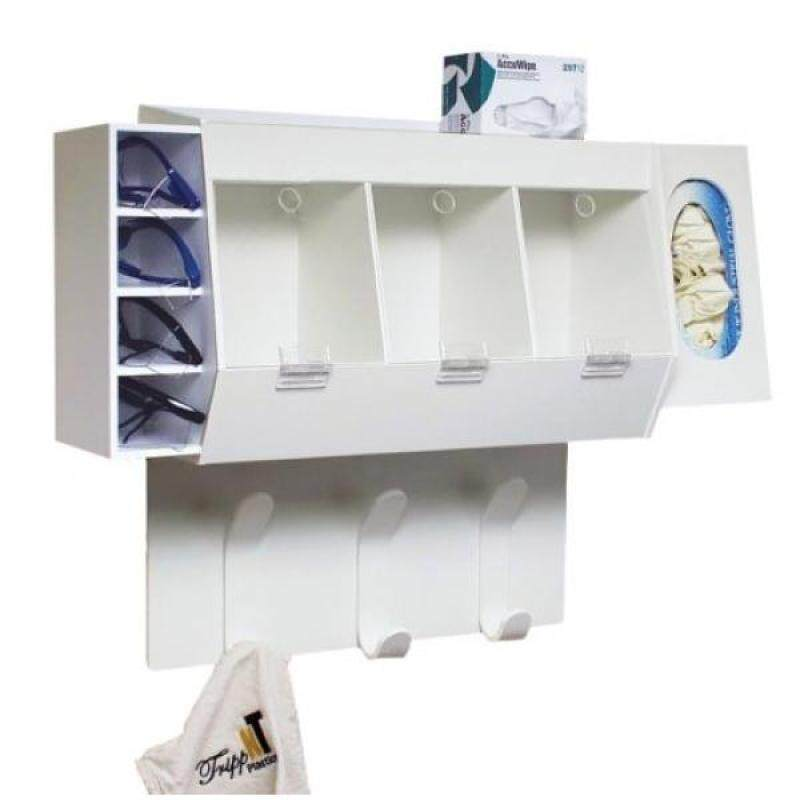 TrippNT 50193 PVC Lab Entry Changing Station, 18 Width x 20 Height x 7 Depth, White