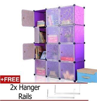 Tupper Cabinet 12 Cubes Purple Stripes DIY Cabinet-FREE 2 HANGERS ...