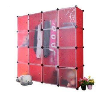 Tupper Cabinet 16 Cubes DIY Wardrobe - Red | Lazada Malaysia