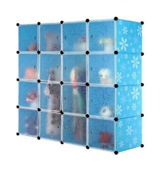 Tupper Cabinet DIY 16 Cubes Wardrobe (White/Blue) | Lazada Malaysia