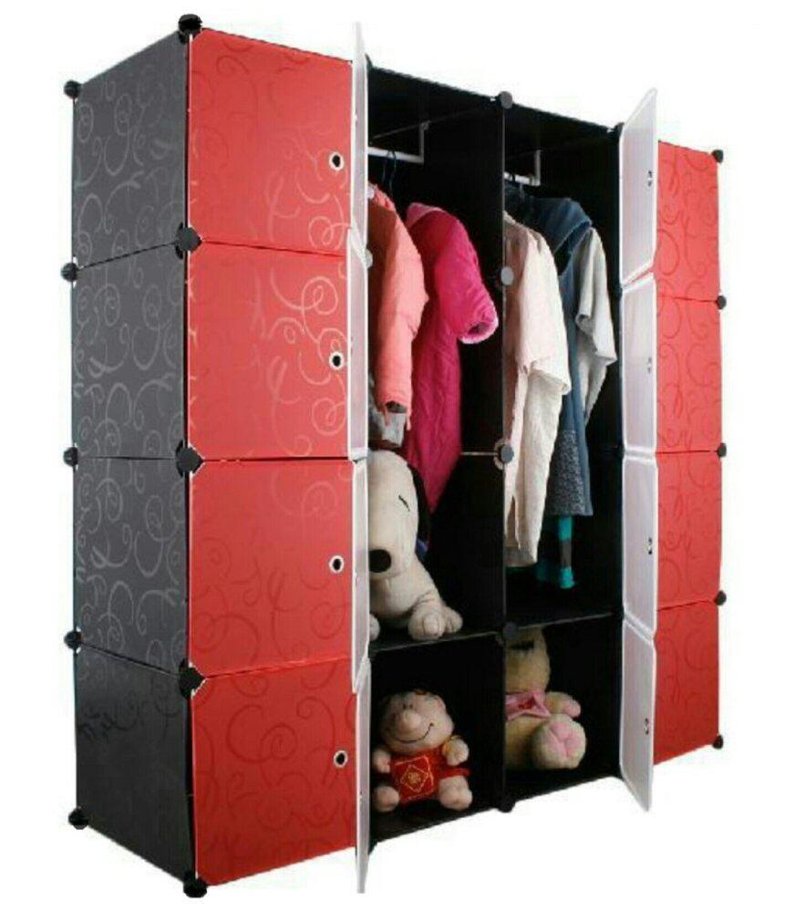 Tupper Cabinet DIY Wardrobe 16 Cubes (Black) | Lazada Malaysia