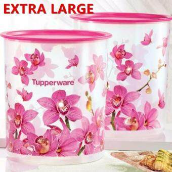 Harga Tupperware MAXI Orchid Elegance One Touch Large Airtight 2x4.3L