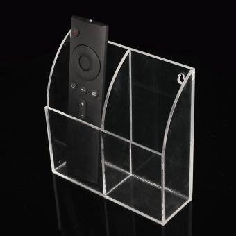 TV Remote Control Holder Wall Mount Acrylic Organiser Box Home Storage Rack