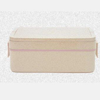 Two layer.Plastic Lunch box Lunchbox Bento Lunch Box Food ContainerStudent's lunch box.