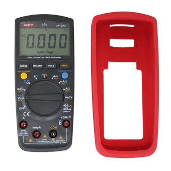"UNI-T UT139C 2.6"" LCD True RMS Digital Multimeter - Red + BlackGrey (2 x AA) - 3"
