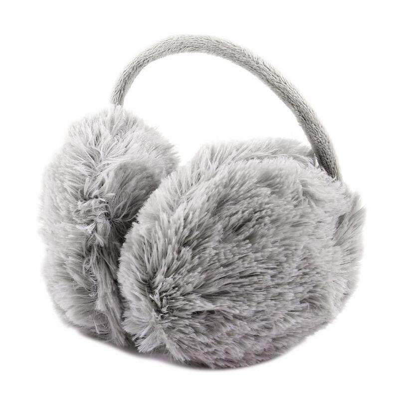 Buy Unisex Winter Headband Fluffy Faux Fur Ear Pad Back Earmuffs (Gray) (Intl) Malaysia