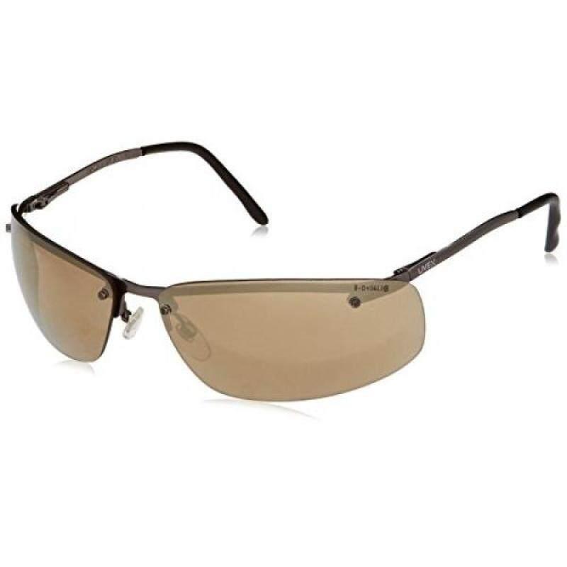 Buy Uvex S4112 Slate Safety Eyewear, Matte metal Frame, Gold Mirror Hardcoat Lens Malaysia