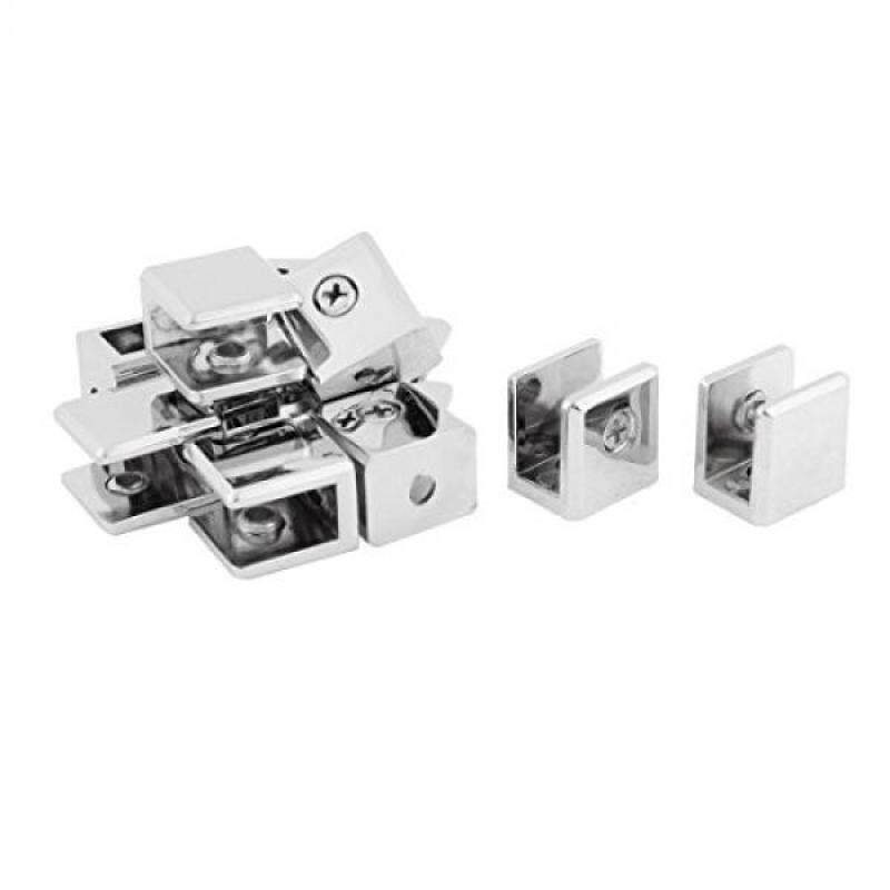 Buy uxcell 10mm Thickness Glass Shelf Bracket Support Clamp Silver Tone 12pcs Malaysia