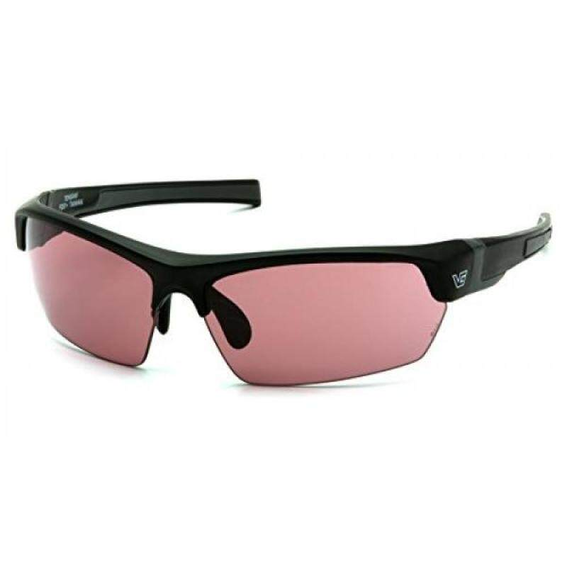 Venture Gear Tensaw Half-Frame High Performance Safety Eyewear, Black Frame, Smoke Vermilion Anti-Fog Lens