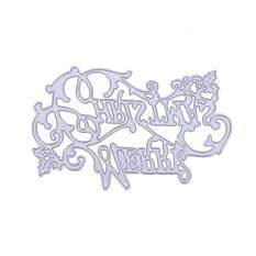 vishine mall- Metal Merry Christmas Letter Cutting Dies Stencil Cards Embossing Mould Malaysia