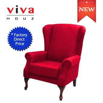 Harga VIVA HOUZ ASDA WING CHAIR/SOFA (RED)