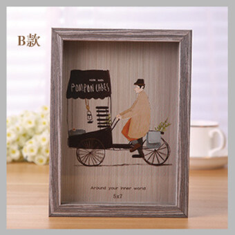 Wall wedding veil photo Picture Frame Wooden frame