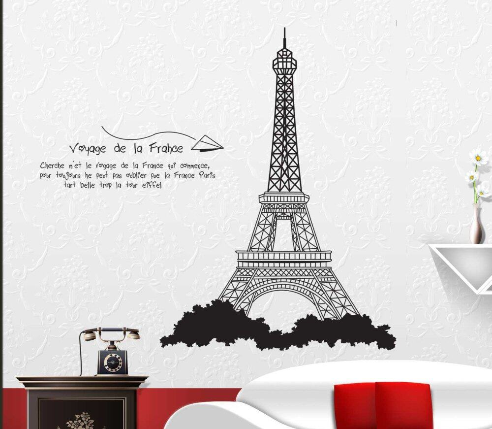 Nice Walplus France Eiffel Tower Wall Stickers | Lazada Malaysia Part 26