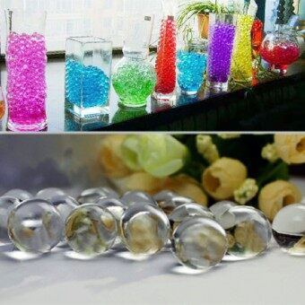 Harga Wedding 50G Water Aqua Crystal Soil Gel Ball Beads Vase CenterpieceTransparency