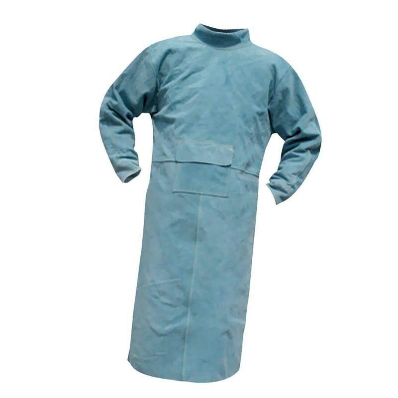 Welding Long Coat Apron Protective Clothing Apparel for Welder Blue 150cm