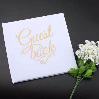 Harga White Wedding Guestbook Custom Names Alternative