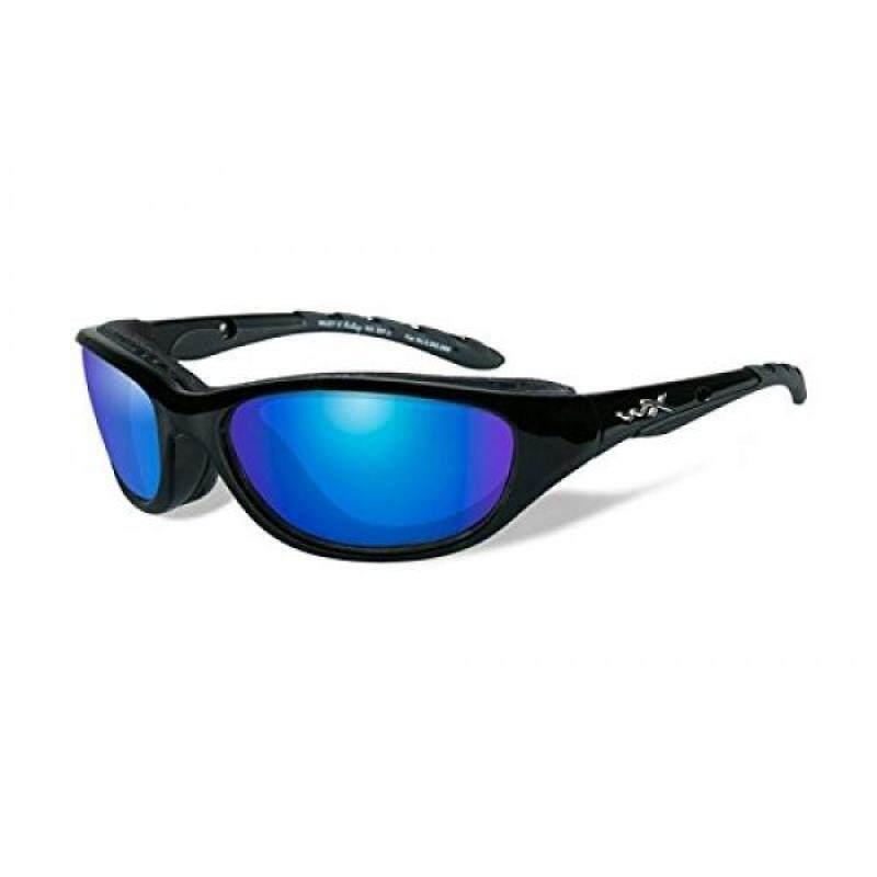 Buy Wiley X Airrage Sunglasses, Polarized Blue Mirror, Gloss Black Malaysia