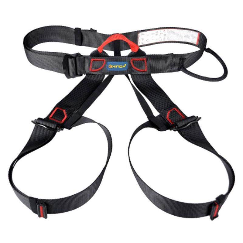 Buy Womdee Half Body Climbing Harness, Adjustable Safety Gear Equipment For Mountaineering/ Fire Rescue/ Higher Level Caving/ Rock Climbing/ Rappelling (Black) Malaysia
