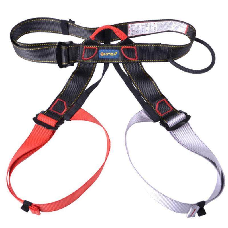 Buy Womdee Half Body Climbing Harness, Adjustable Safety Gear Equipment For Mountaineering/ Fire Rescue/ Higher Level Caving/ Rock Climbing/ Rappelling (Red + Grey) Malaysia