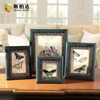 Wood frame European creative photo frame swing sets frame combination photo frame bedroom retro photo frame wall