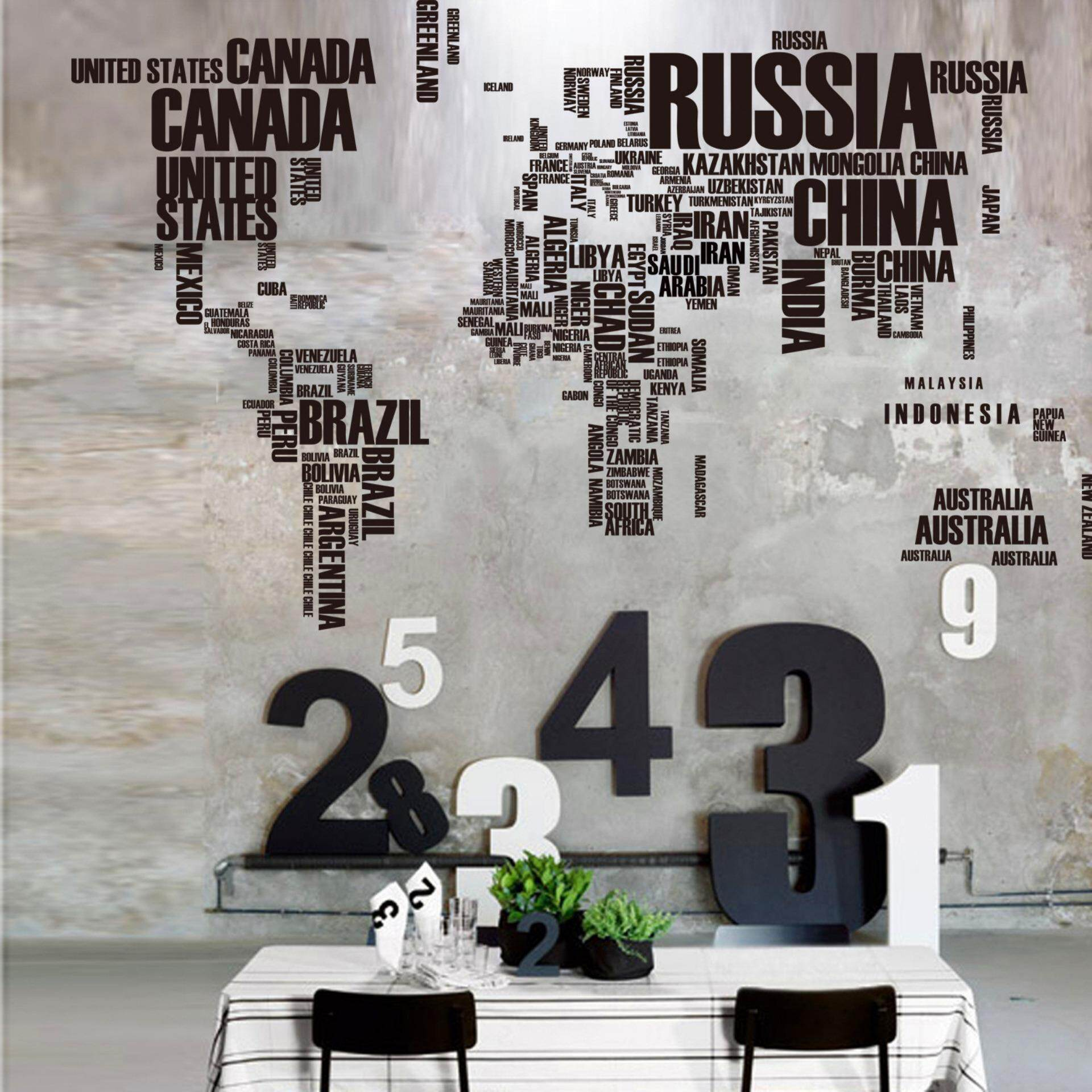 Penyenaraian harga world map wall sticker country name wall sticker world map wall sticker country name wall sticker decal inwords large text world map stickers gumiabroncs Choice Image