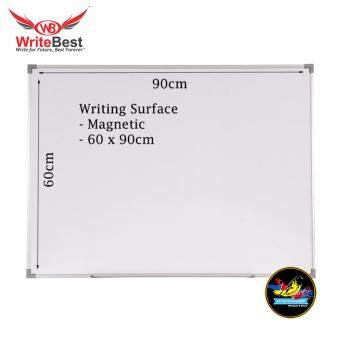Writebest Whiteboard Aluminium Frame Melamine Magnetic 60x90cm - SM23