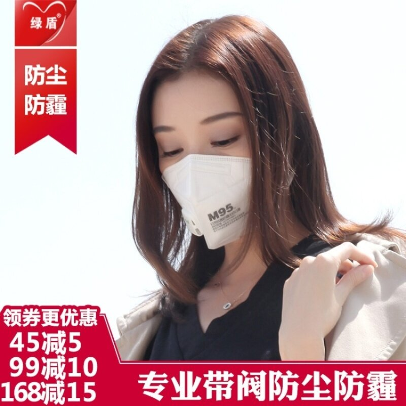 WSmall Lv Dun Dustproof Breathable Breathing Valve Riding Masks