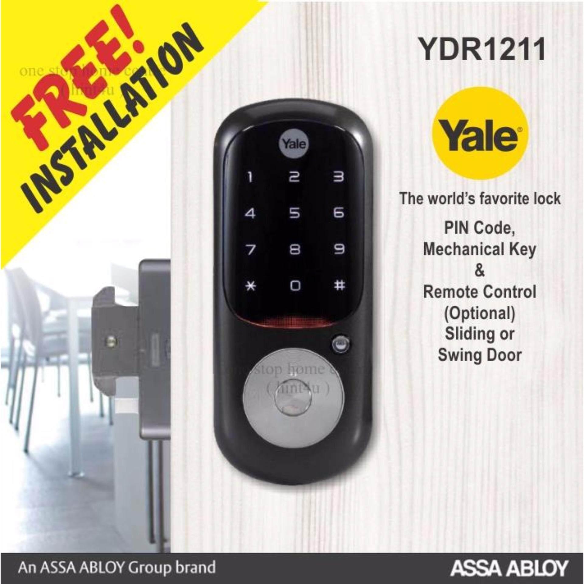 Yale Ydr 1211 Pin Key Digital Door Lock Sliding Or Swing Malaysia