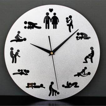 Harga Yika Fashion creative personality fun wall clock art bedroom studywall wall clock clock mute