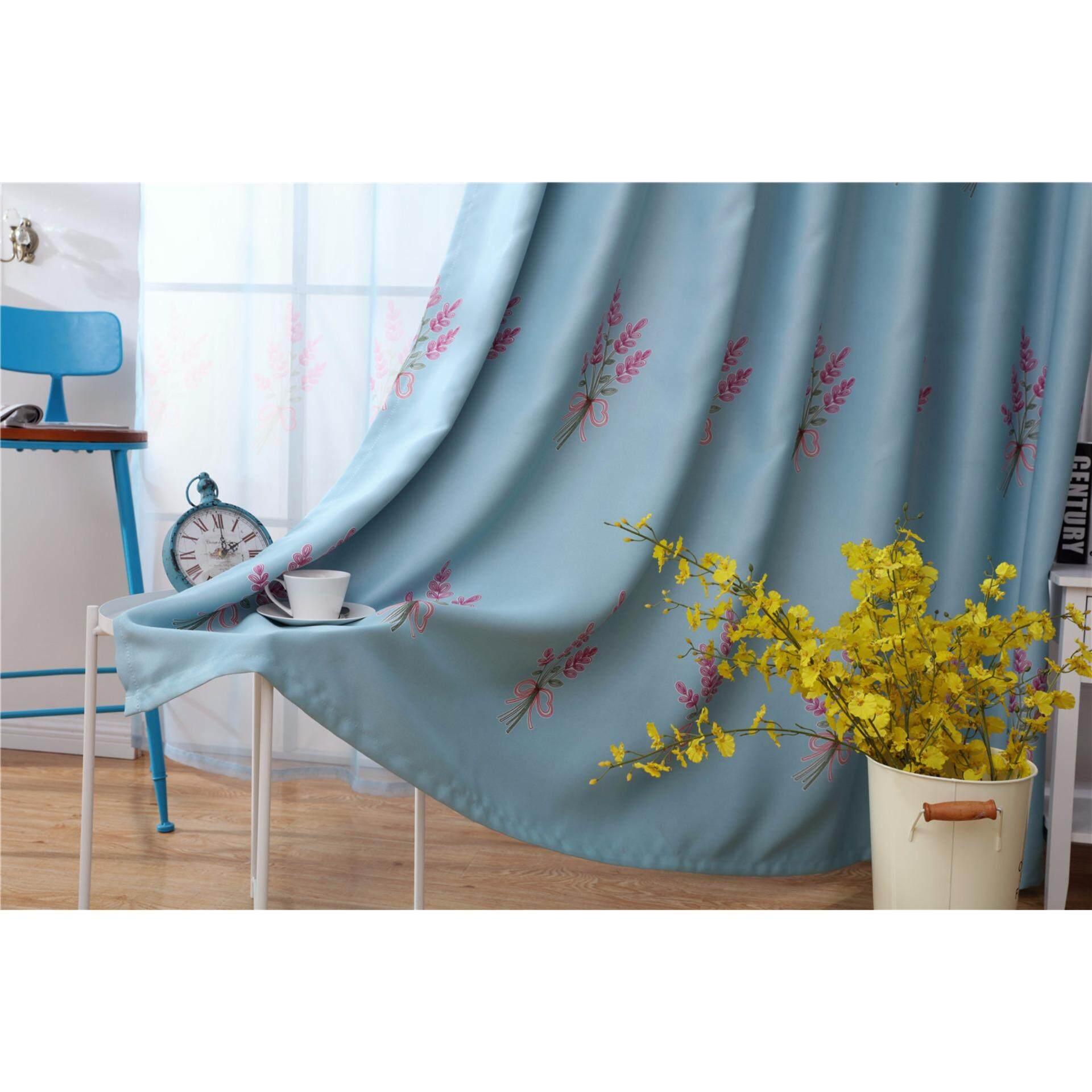 Yika Sun Insulation Curtains Lavender Pattern Curtains ... - photo#39