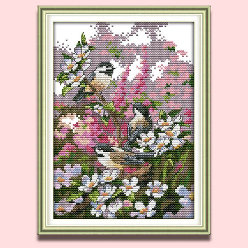 Cross Stitch Stamped//Counted Kits Birds Patterns Embroidery Needlepoint Kit
