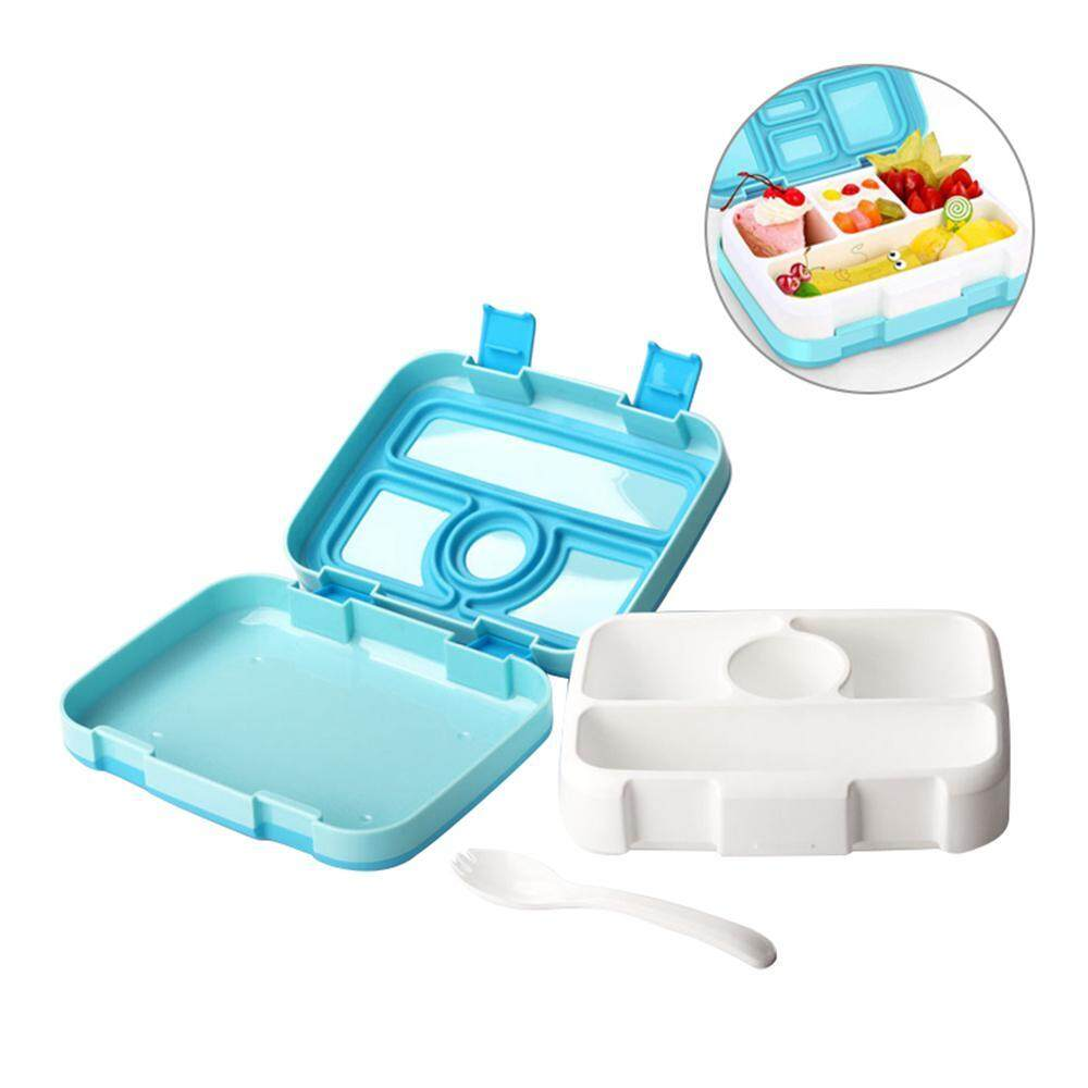 ad01f145fd2c NiceToEmpty Lunch Box With Spoon Set FDA Approved For Kid Compartment  Microwavable Bento Box Leakproof Food Container Lunch Box Portable Picnic  ...