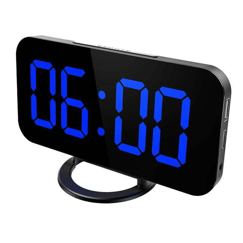 Large LED Desk Alarm Clock Temperature 12//24h Humidity Display 3 Brightness Mode