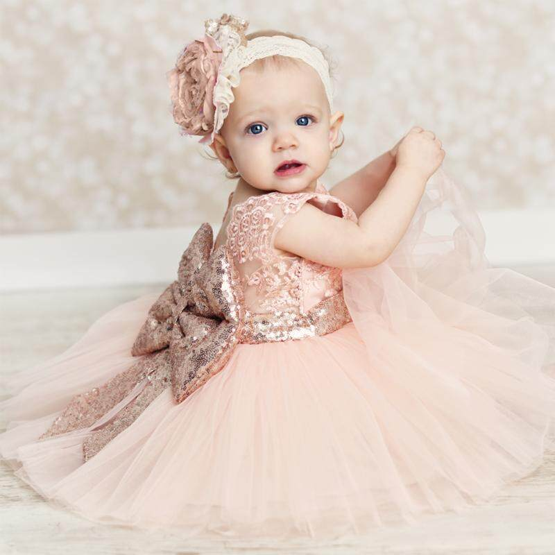 3f1d431920026 Dress Girls Summer Dress Backless Teenage Party Sequin Princess Children  Costume for Kids Clothes Pink White 0-10T
